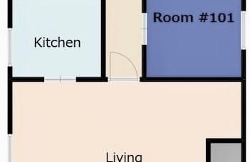 1階滞在用スペース間取り図