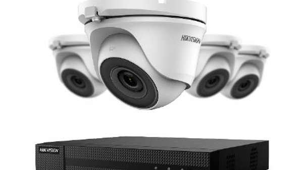 4-Channel DVR With 1tb Hdd & Four 2mp Outdoor IR Turret Cameras