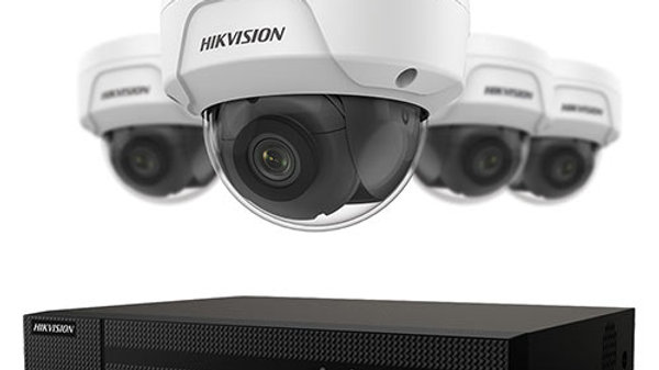 4-Channel 4k NVR With 1tb Hdd & (4) 4mp IP Dome Cameras