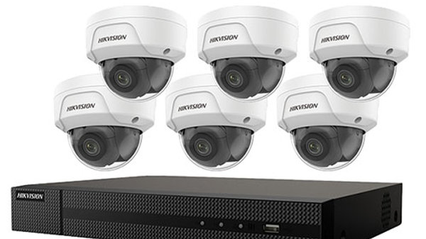 8-Channel 4k NVR With 2tb Hdd & (6) 4mp IP Dome Cameras