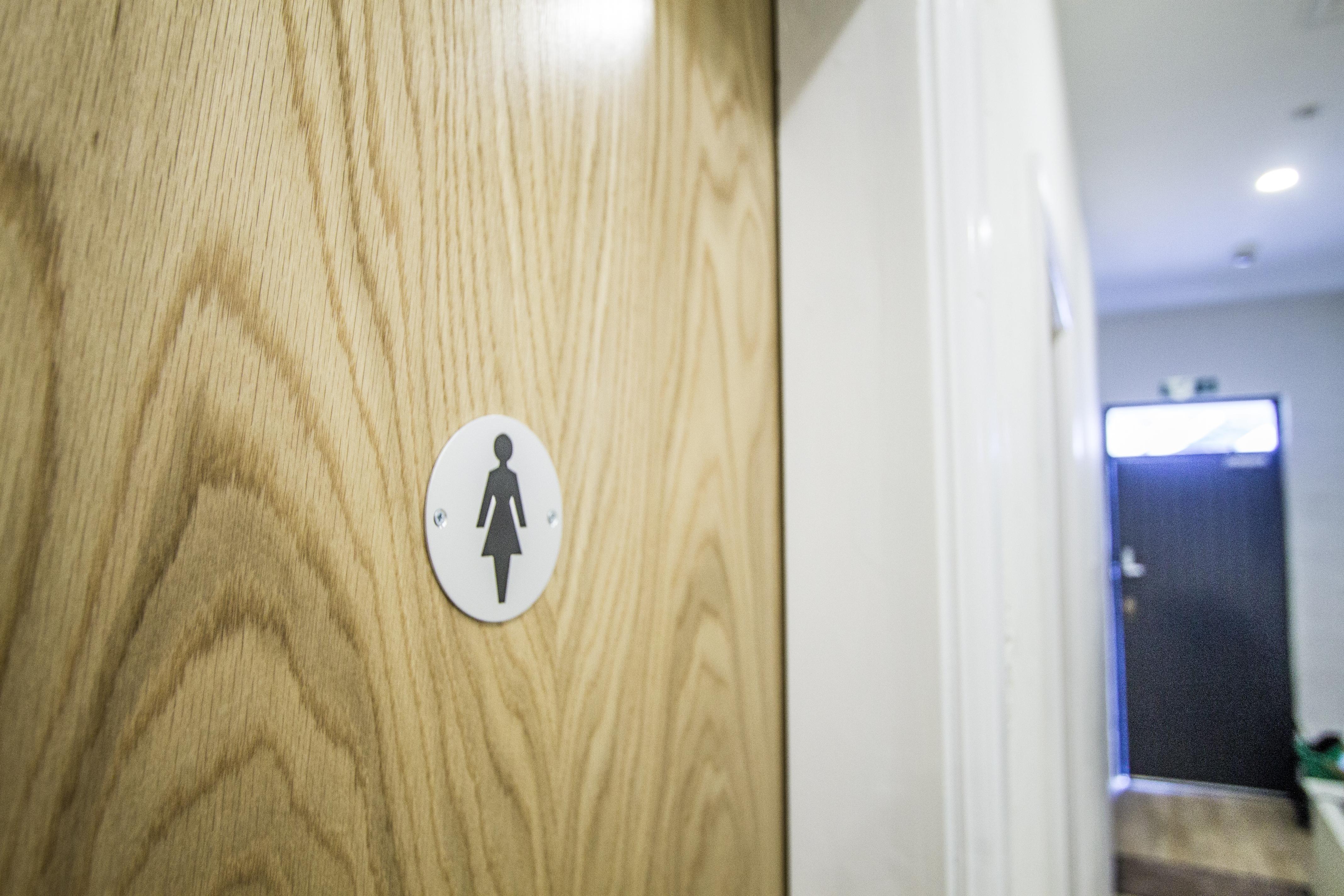 Female Washroom Door