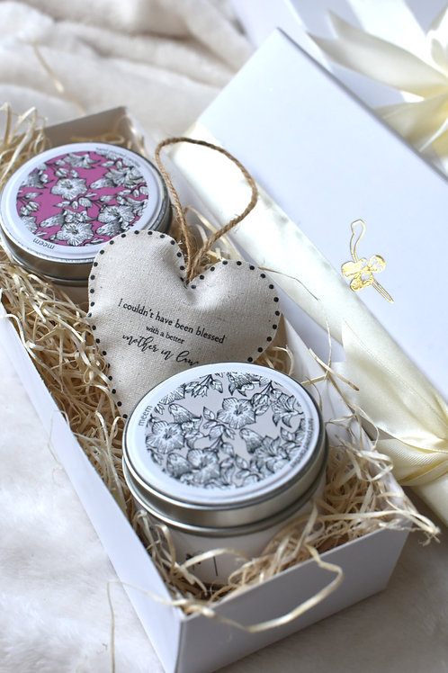 Gift Set Two Candles + Trinket