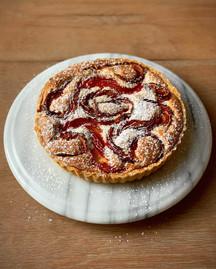 Plum & almond frangipane tart