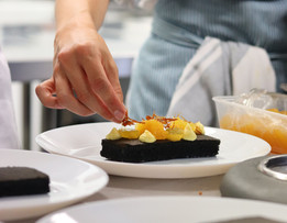 Plating desserts for a Curiouser Kitchen supperclub