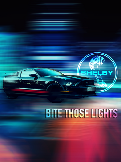 "Ford Shelby Mustang ""Bite those lights"" Artwork"