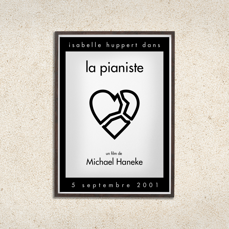 """La pianiste"" by M. Haneke - Poster Redo"