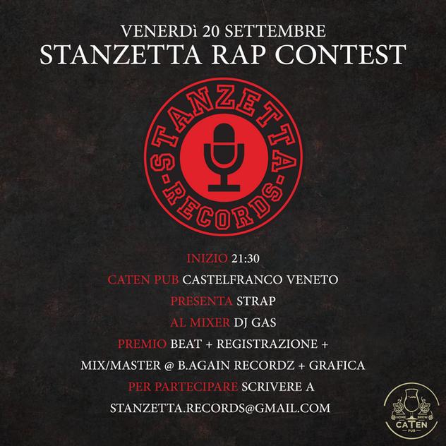 """""""Stanzetta Rap Contest #1"""" Flyer"""