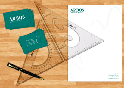 """""""Arbos"""" Rebranding - Business cards and Letterhead"""
