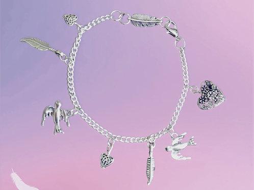 Birds of a Feather charm bracelet