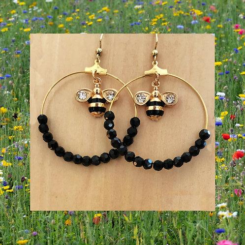 Bee hooped Earrings