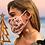 Thumbnail: Mask holder necklace/white enamel flower