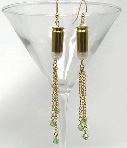 bullet and peridot shoulder dusters
