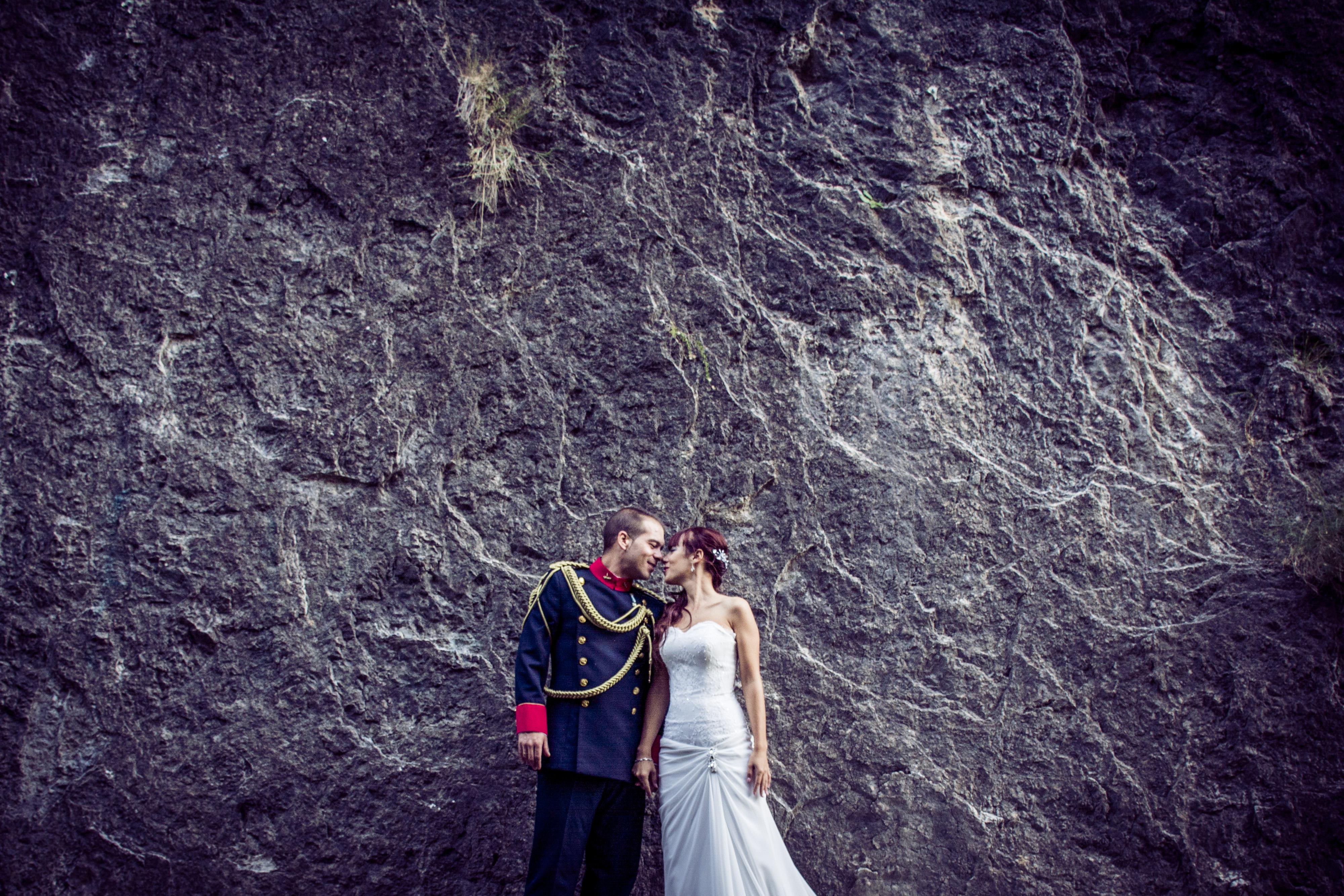Pared Piedad boda
