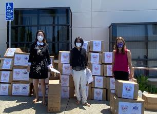 旅美科协圣地亚哥分会捐赠医院及社区助力抗议——报道二