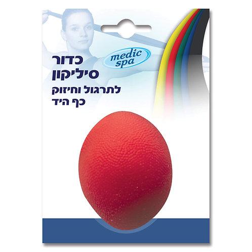 כדור סיליקון לפיזיותרפיה אדום- חזק