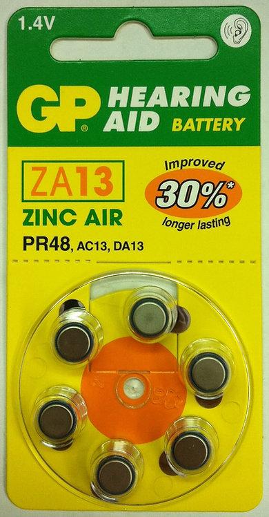 ZA13 סוללות למכשיר שמיעה