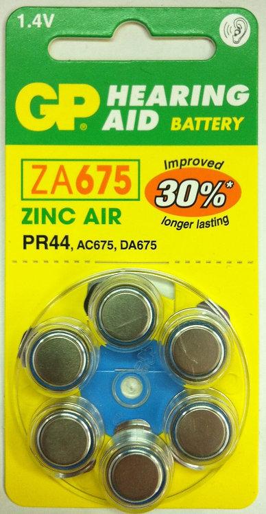 ZA675 סוללות למכשיר שמיעה