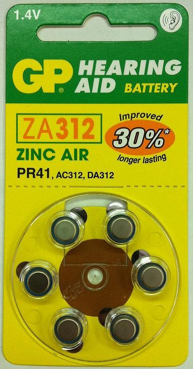 ZA12 סוללות למכשיר שמיעה