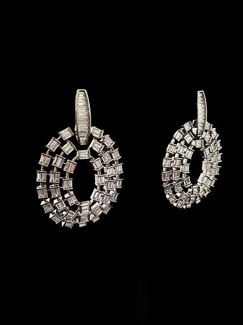 Gray Ropes & Knots Modern Earrings