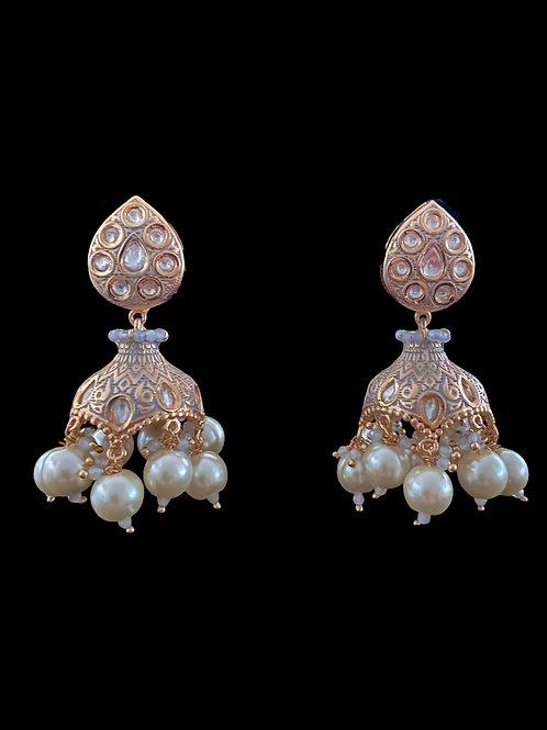 Gray Stylized Jhumka Earrings
