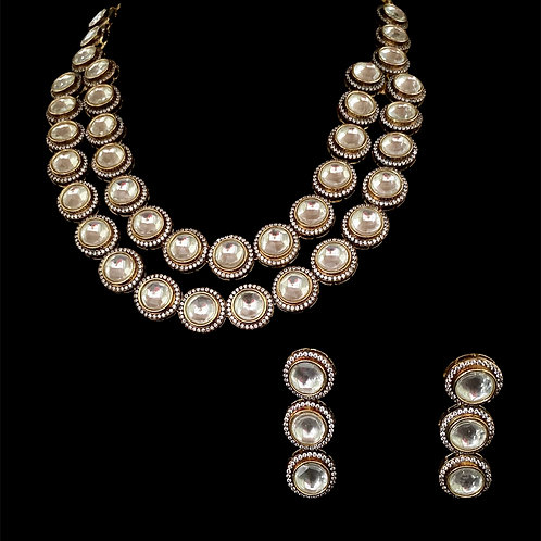 Victorian Silver Two-Strand Necklace Set
