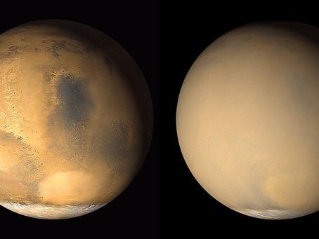 Granda polvoŝtormo danĝerigas Marsan veturilon