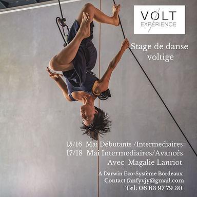 Stage  danse voltige avec Magalie Lanrio