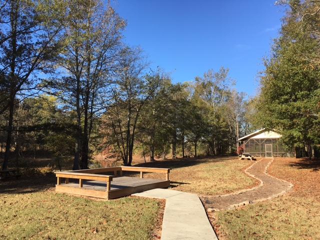 deck and pavilion