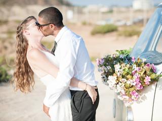 צילומי חתונה עם הוואן הלבן