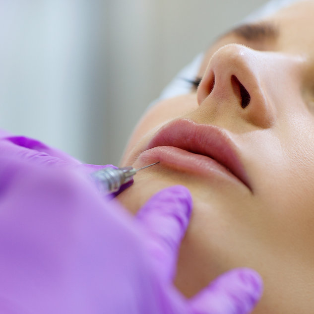 Beautiful girl on rejuvenation procedure
