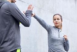 Woman doing Self Defense