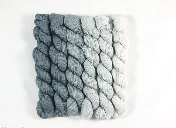 Grey Pearls  Superwash Merino/Tussah Silk
