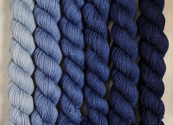 Pinstripe  SuperwashMerino/Tussah Silk