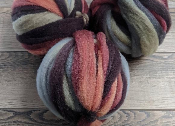Antique Rose: Merino, Tussah Silk