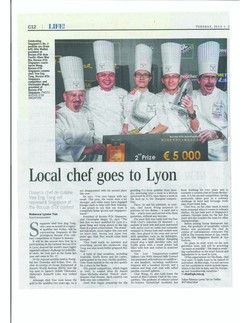 Local chef goes to Lyon