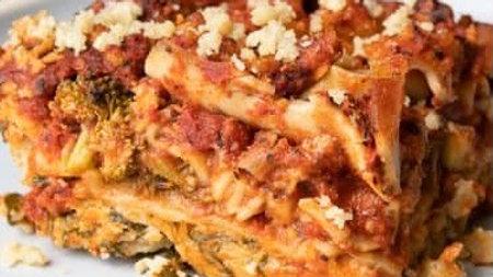 Signature Spicy Vegan Sausage Lasagna