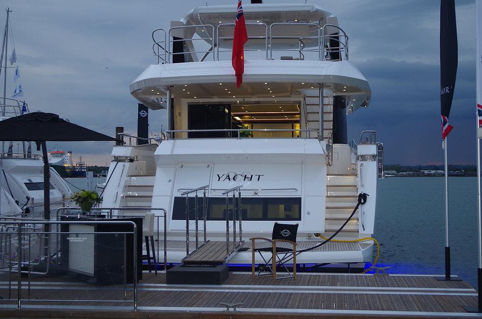 Ceramic Marine Coated Sunseeker Yacht