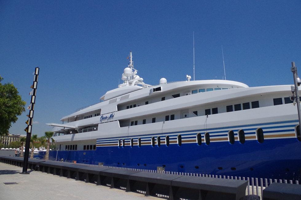 Ceramic Marine Coated Blue Super Yacht