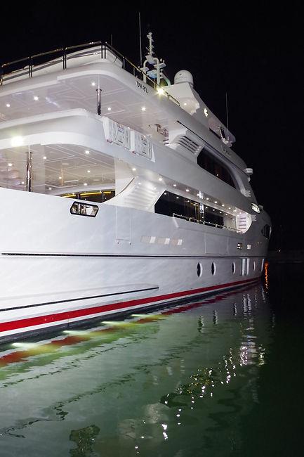 Ceramic Marine Coated White Super Yacht