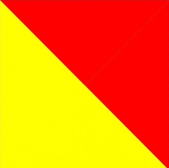 Bandera hombre al agua 40x40 cms.