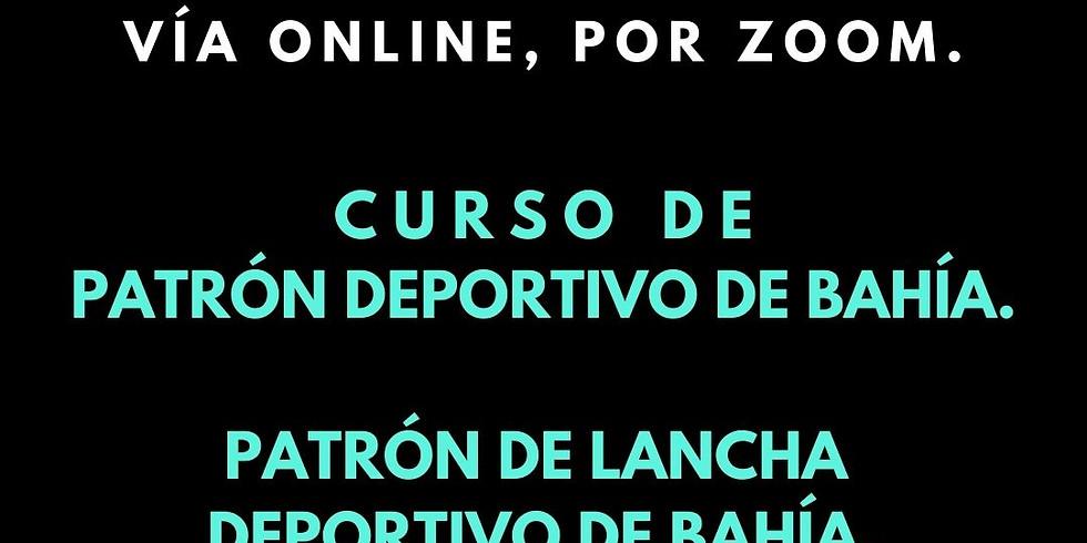 Patrón Deportivo de Bahía, Patrón de Lancha Deportivo de Bahía.