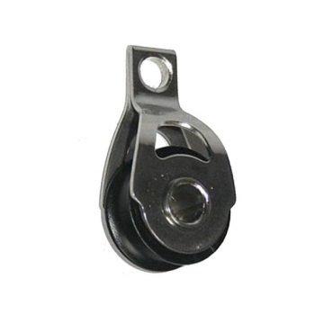 Motón minimox simple pivoteante 6 mm.