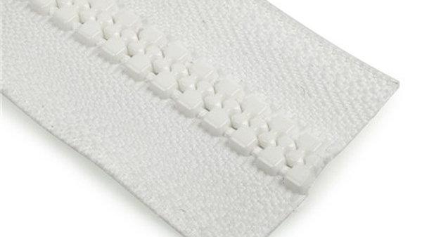 Cierre plástico blanco YKK N° 10, por metro.