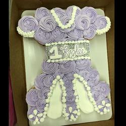 PurpleFlowerCupcakeCake