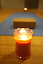 Essence candle in a room for yoga..jpg
