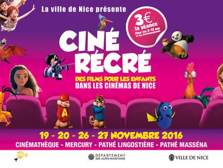 Ciné Récré : 60 projections pour les enfants à 3€ la place.