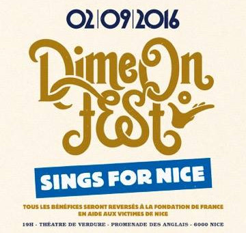 """Dime on Fest, sings for Nice"" : le 2 septembre au Théâtre de Verdure"