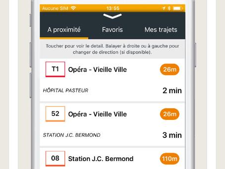 Une nouvelle appli pour les transports en commun dans la métropole niçoise