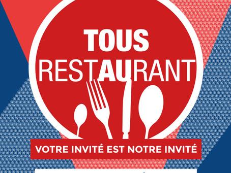 Tous au restaurant, du 19 au 2 octobre 2016 à Nice !