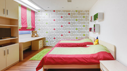 The wallpapers used throughout are from Portelli & Brincat and create an original look in these rooms. © Alan Carville